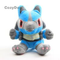 "Anime Lucario Plush Soft Toy Stuffed Animal Doll Teddy Figure 7"" Kids Xmas Gift"