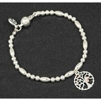 EQUILIBRIUM TREE OF LIFE BANGLE BRACELET SILVER PLATED will you be my bridesmaid