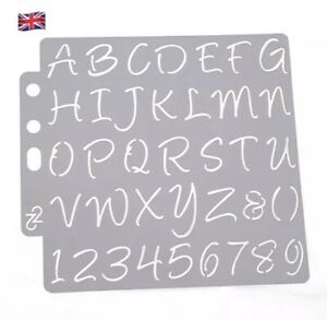Alphabet & Number Lettering Small Thin Plastic Reusable Art Craft Stencil