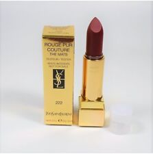 YSL Rouge Pur Couture The Mats #222 Black Red Code 3.8 ml *NEW TST BOX*