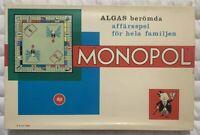 Vintage Monopol (Monopoly Rare Swedish Version) 1-1207-8 Made By Alga Sweden New