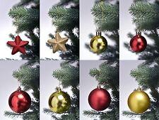 44 tlg. Christbaumkugeln Weihnachtskugeln Christbaumschmuck Set rot / gold