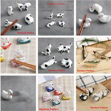 10 Type Animal Ceramic Chopsticks Spoon Fork Holder Kitchen Chopstick Rest Stand