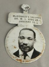 Original Vintage Mcdonald'S Salutes Dr M L King Jr January 15 Pinback Tab Button