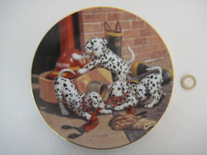 THE HAMILTON COLLECTION WHERE'S THE FIRE DAY'S WORK DALMATIANS '93 LTD ED PLATE