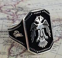 Adler Solide Sterling Silber Türkei Ring 925 K Sterling Silber Mens Ring