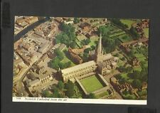 Harvey Barton Postcard Norwich Cathedral From the Air Norfolk  (N6R)