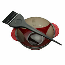 Hair Colour Mixing Bowl and Brush Set Red - Suction Base