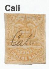 "Estampillas-Colombia. 1870. 5 C Naranja. SG: 62. Fine Used ""Cali"" Pen cancelar."