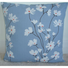 """16"""" Cushion Cover Blue Orange and White Flowers 16x16"""