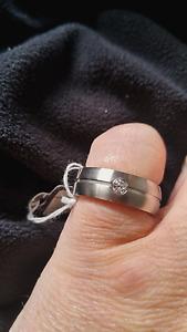 Energetix Magnet Ring 367, Gr. 18, Edelstahl gebürstet mit 1 Stein - neu