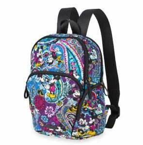NWT Disney Vera Bradley Mickey's Paisley Celebration Iconic Hadley Backpack