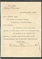 Rodman Wanamaker Signed Letter Full JSA Letter of Authentication M3330