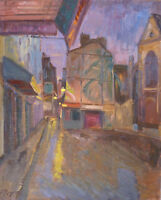 Louis PEYRÉ (1923-2012) HsT 1968 Place Saint Médard Jeune Peinture Fauvisme