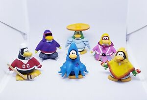 Lot of 6 different Disney Club penguin toys with interchangeable pieces