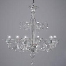 Bassa Laguna lustre en verre de Murano 6 lumières cristal