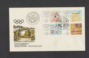 Cyprus 1984 Olympic Games Los Angeles FDC per Scan