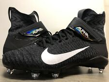 Nike Flyknit Alpha Menace Elite 2 Black Football Cleats Size 14 CI1530-001 NEW
