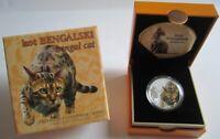 Niue 1 Dollar 2014 Katzen Bengalkatze Silber