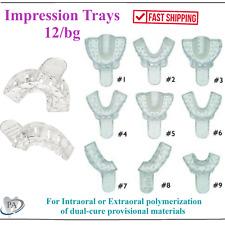 Dental Clear Impression Trays Excellent Crystal Choose Size 1 Bag Of 12