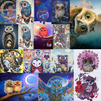 5D DIY Full Drill Diamond Painting Owl Lovers Embroidery Cross Stitch Home Decor