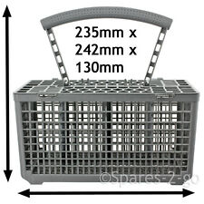 Cutlery Basket for LG Dishwasher Plastic Cage Tray Lid & Removable Handle