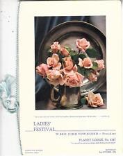 OS037.  Masons. Planet Lodge. No.6147. Ladies Festival, 1954.