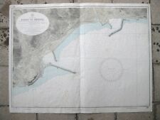 stampa MAPPA CARTA NAUTICA PORTO DI IMPERIA MAR LIGURE LIGURIA 1957