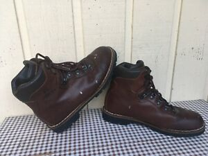 Alico Made in Italy men's all leather boots size 11.5.Brown