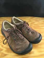 Womens KEEN Brown Leather Lace Up Casual Hiking shoes sz 8.5M-RV$109
