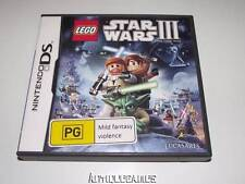 Lego Star Wars III The Clone Wars Nintendo DS 3DS Game Preloved *No Manual*
