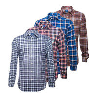 American Eagle Outfitters Men's Soft Cotton Long Sleeve Check Shirts RRP £26