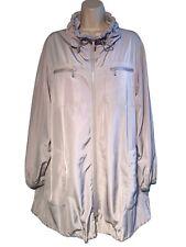 Lafayette 148 New York ~ Size L ~ Lightweight Long Windbreak Jacket ~ Zip-Front