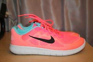 NIKE FREE RN 2017 Racer Pink/Black Running Shoes Youth US 6Y EU 40 904258-600