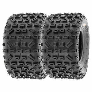 SunF 20x11-9 ATV Tires 20x11x9 MX XC Tubeless 6 PR A035  [Set of 2]
