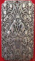 "Old Chinese""双猴挂印"" tibet Silver Bullion thanka amulet 135g  amulet thangka"