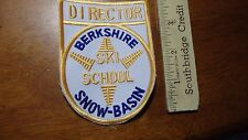 VINTAGE SKIING BERKSHIRE SNOW BASIN MASSACHUSETTS DOWN HILL SKIING PATCH X L #5