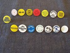 lot of 15 vintage collectible golf ball markers - company advertisements,