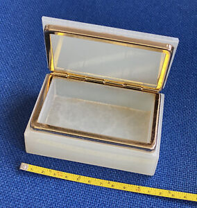 Onyx Marble Cigarette/Trinket Box - Natural Stone/colours Vary. Quality product