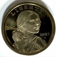 2002 S SACAGAWEA Golden Dollar Native American PROOF Coin US Mint MADE IN USA