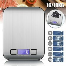 1G-10KG Electronic Scales Stainless Steel Digital Kitchen Food Cooking Weighing