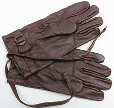 SWEDISH ARMY OFFICERS LEATHER GLOVES size LARGE