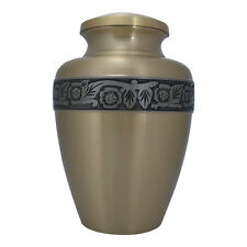 Memorial Brass Urn, Avalon Bronze Large Adult Urn for Human Ashes