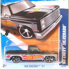2011 Hot Wheels HW RACING #156 * '83 CHEVY SILVERADO * HW RACE TEAM 1983 BLACK