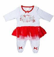 Baby Girl Fairy Sparkle Christmas Cotton Sleepsuit Tutu Newborn Outfit Jumper