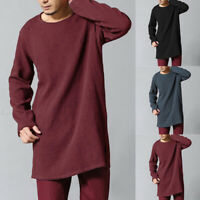 Men Long Sleeve Linen Baggy T Shirt Retro Style Long T Shirts Chinese Style Tops