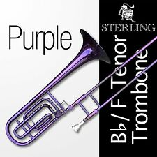 PURPLE  Bb/F Tenor STERLING Trombone • High Quality • With Case and Accessories