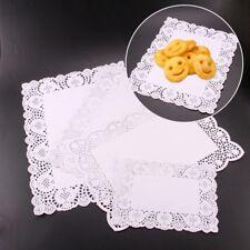 16PCS/Set Paper Lace Doyleys Rectangle Cake Desserts Doilies Party Wedding Decor