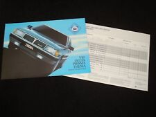 LANCIA Y10, DELTA, PRISMA, THEMA UK SALES BROCHURE & PRICE LIST OCTOBER 1985 NEW
