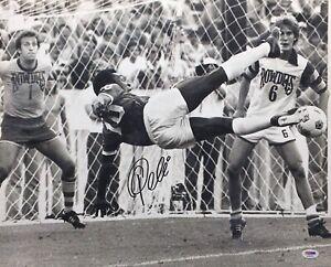 Pele Signed Soccer 16x20 Photo *Santos *New York Cosmos PSA AD56726